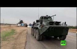 """فيديو جديد لـ """"RT"""".. وصول قافلة ضخمة من الشرطة العسكرية الروسية إلى مطار القامشلي"""
