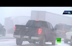 الولايات المتحدة.. حادث سير جماعي بمشاركة 50 سيارة وحافلة
