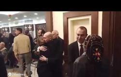 نبيلة عبيد وأشرف زكي في عزاء المخرج الراحل سمير سيف