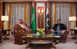 ولي عهد السعودية يبحث أوجه التعاون مع رئيس وزراء باكستان