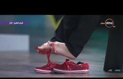 """جيسيكا كوكس """"المولودة من دون ذراعين"""" تربط الحذاء على الهواء باستخدام أقدامها"""