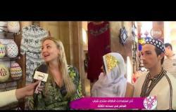 السفيرة عزيزة - مراسلتنا/ هديرالجميل تنقل صورة إقبال السائحين في السوق القديم بشرم الشيخ