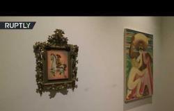 عرض لوحة لزعيم الثورة المكسيكية تظهره عاريا يثير غضب الناس