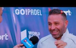 فعاليات بطولة العالم لمحترفي البادل تنس تحت سفح الأهرامات
