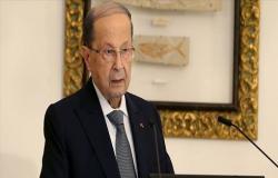 الرئيس اللبناني : عراقيل حالت دون تشكيل حكومة الأسبوع الماضي