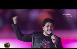 """في مشهد رائع.. الجمهور يغني مع مصطفى حجاج """"ابن مصر"""" في احتفالية """"مصرنا"""""""