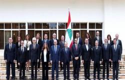 لبنان.. الحكومة الجديدة تجتمع ودياب يحذر من كارثة اقتصادية