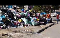 القمامة تملأ شوارع طرابلس الليبية