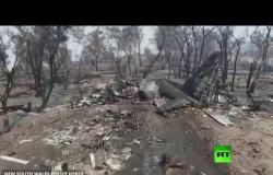 لقطات جوية من مكان تحطم طائرة لإخماد الحرائق في أستراليا
