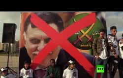 متظاهرو بنغازي يناشدون الجيش الوطني الليبي مواصلة تحرير طرابلس
