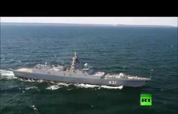روسيا تختبر فرقاطة صاروخية جديدة