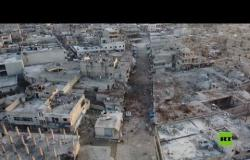 لقطات جوية من بلدة الأتارب المهجورة في حلب