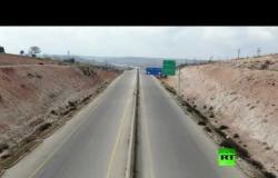 شاهد.. لقطات جوية حصرية لطريق M4 حلب – اللاذقية الاستراتيجي