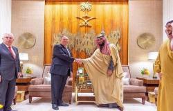 """ولي العهد السعودي يبحث مع """"بومبيو"""" تطورات الأوضاع الإقليمية والدولية"""