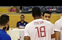 مباراة الكرة الطائرة بين الزمالك والكاظمة الكويتي في البطولة العربية