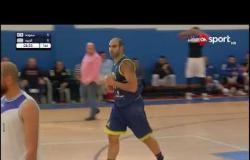 مباراة كرة السلة بين فريقي سموحة والجزيرة في دوري السوبر