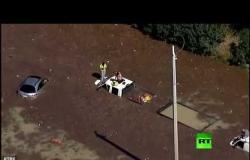 شاهد.. فيضان في هيوستن إثر انفجار أنبوب لضخ الماء