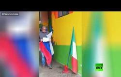 إيطالي يشكر روسيا وبوتين يعبر عن امتنانه بطريقته