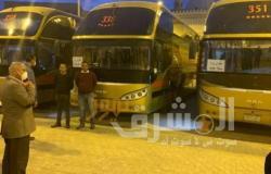 وزير النقل يتفقد حركة نقل أتوبيسات السوبر جيت للركاب