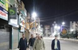 حملة لمتابعة تنفيذ حظر التجوال وإغلاق المحلات بأبشواي