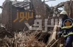 انهيار منزل من 3 طوابق بسوهاج