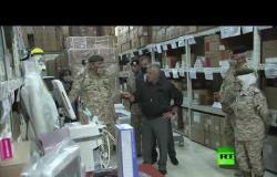 ملك الأردن عبدالله اللثاني يتفقد مستودع المعدات الطبية التابع لمديرية الخدمات الطبية الملكية