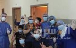 خروج 6 حالات بعد شفائها من الحجر الصحي بمستشفي التخصصي