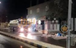 استمرار حملات التطهير والتعقيم المسائية بكافة شوارع مدينة القصير