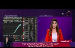نشرة ضد كورونا - مصر الأولي علي مستوي إفريقيا والشرق الأوسط في التجارب الإكلينيكية لمجابهة كورونا
