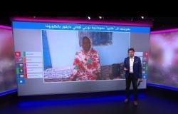 من على عربتها الكارو، سيدة سودانية وابنتها توعيان أهل دارفور بطرق الحماية من فيروس كورونا