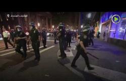 فض المظاهرات في نيويورك