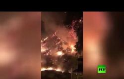 اشتعال النيران قرب سجن في طهران