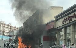 الباحة.. حادث سير بطريق الملك عبدالعزيز يتسبب في احتراق مركبة بالكامل