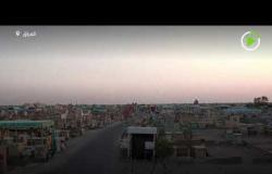 طائرة درون تصور أكبر مقبرة في العالم في العراق