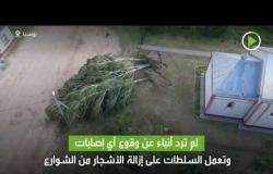 شاهد آثار إعصار اجتاح  قرية صغيرة في روسيا