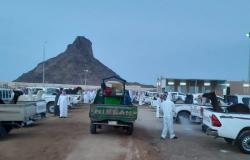 بلدية النقيع تُتابع تنفيذ الإجراءات الاحترازية بسوق الأنعام