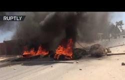 اشتباكات بين متظاهرين وقوات الأمن في رمادة التونسية