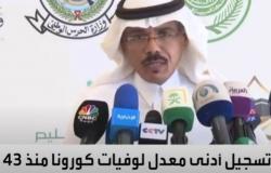 """""""الصحة"""" تعلن تسجيل أقل معدل وفيات بسبب كورونا بالسعودية منذ 43 يومًا"""