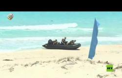 """مشاهد جديدة لمناورة """"حسم 2020"""" قرب الحدود مع ليبيا"""