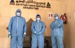 تعافى وخروج 10 مصابين بكورونا من حجر نزل الشباب بشرم الشيخ