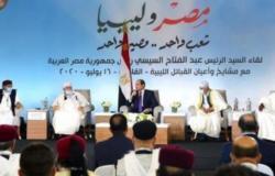 """""""السيسي"""": لن نقف مكتوفي الأيدي أمام أي تحركات تهدد مصر وليبيا"""