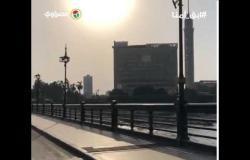 كوبري قصر النيل والكورنيش بدون مواطنين في عيد الأضحي
