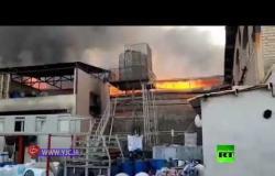 اندلاع حرائق غامضة في مدينة صناعية ومركب تجاري في إيران