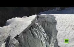 إجلاء جماعي تحسبا لانهيار جليدي في جبال الألب