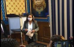 وزيرة التخطيط والتنمية تدلي بصوتها في انتخابات مجلس الشيوخ
