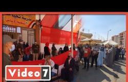 طوابير أمام لجنة تحيا مصر بالأسمرات بانتخابات مجلس الشيوخ