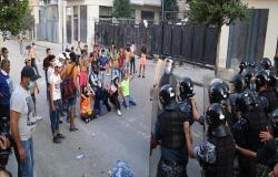 بيروت.. 42 مصابا في اشتباكات بين محتجين وقوات الأمن .. بالفيديو