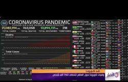 الأخبار - وفيات كورونا حول العالم تتخطى 763 ألف شخص