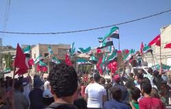 مظاهرات شعبية تطالب تركيا بالبقاء في سوريا واستعادة مناطق في حلب وإدلب .. بالفيديو