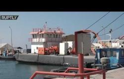 """شاهد.. ميناء رأس لانوف النفطي بعد إعلان """"الجيش الوطني الليبي"""" رفع الحصار عنه"""